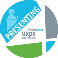 Presenting at UXPA London 2014 Badge
