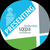 Presenting at UXPA London 2014 Badge